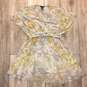 H&M Floral Coverup/Blouse